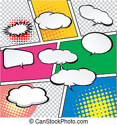 comic speech bubbles. - Comic Speech Bubble, Cartoon....