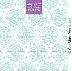 Abstract snowflake shapes seamless pattern