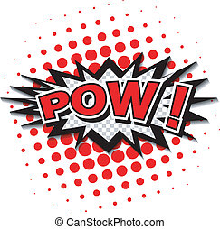 Pow! Comic Speech Bubble. - Comic Speech Bubble, Cartoon....