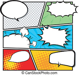 comic template Vector - Comic Speech Bubble template,...