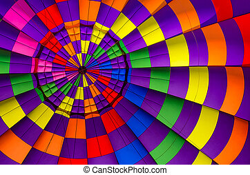 Hot air balloon inside background - Multi colored hot air...