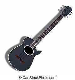 accoustic guitar - image of accoustic guitar with shadow and...