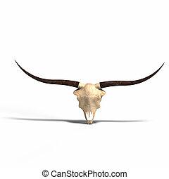 skull of a dead animal - rendering of a skull of a dead...