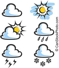weather icon vector illustration isolated on white...