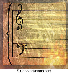 Music sheet - Antique music sheet
