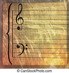 Music sheet - Antique music sheet