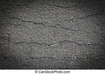 Cracked asphalt texture background