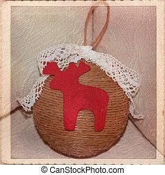 Christmas decorations - Christmas ball, hand-made