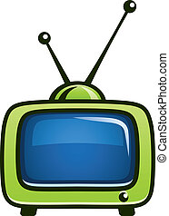 vintage tv set vector clipart vector illustration isolated...