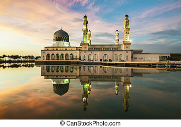 Kota Kinabalu Mosque Reflection - Mosque