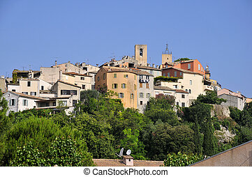 Village of Biot in France - Village of Biot on the top of a...