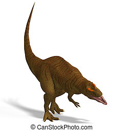 Allosaurus - Giant Dinosaur Allosaurus With Clipping Path...