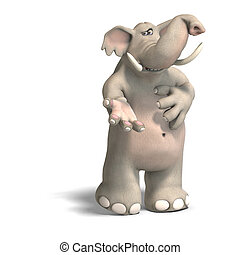 toon elephant invites - cartoon elephant invites you to his...