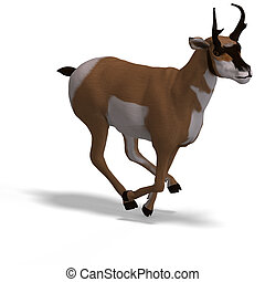 antelope - rendering of an antelope with Clipping Path and...