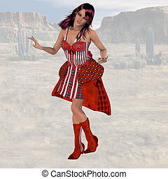 Saloon Girl 02 - Wild West Series with Cowboys, Indians,...
