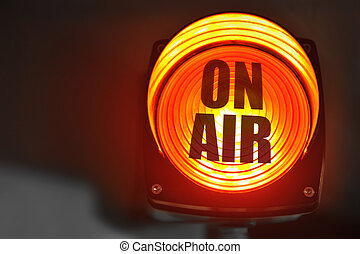 On Air display - Glowing red ON AIR display for radio and...