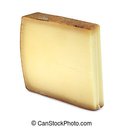 Comte fort - Portion of Comte fort Cheese isolated on white...