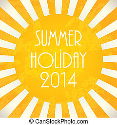 Summer background - 2014, vector illustration, EPS10