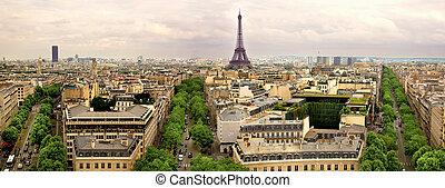 Paris panoramic - Paris, panoramic aerial view france