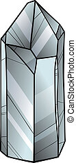 quartz or crystal cartoon illustration - Cartoon...