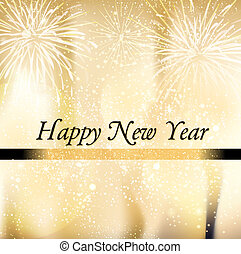 Greeting card Happy New Year - Square greeting card Happy...
