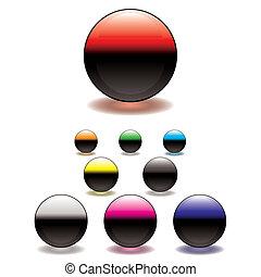 split circle button