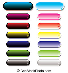 gel glow button variation - Collection of colorful gel...