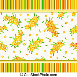 seamless pattern with sea-buckthorn - sappy...