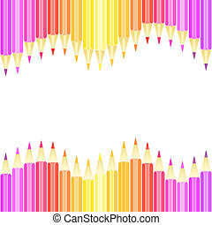 Colorful pencil seamless background. Vector Background.