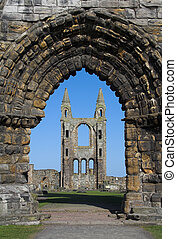St Andrews Cathedral Ruins - View of St Andrews Cathedral in...
