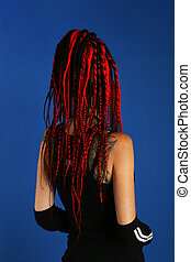 Dreadlocks - Girl with red dreadlocks