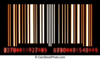 Bar Code - Bar code animation. Seamless Looping