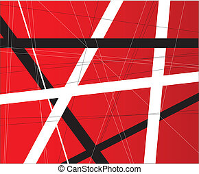 Criss Cross Background - A red background with black and...