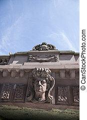 bridge in the center of berlin - sculpture under the bridge...
