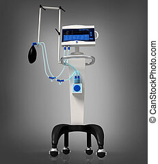 medical hospital ventilator respira - digital illustration...