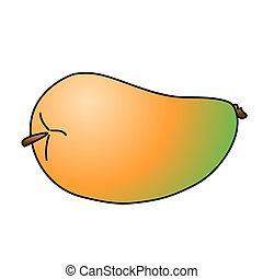 Mango - Childish Illustration Isolated Mango