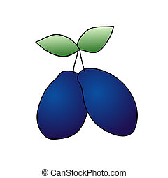 Plum - Childish Illustration Isolated Plum