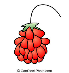 Raspberry - Childish Illustration Isolated  Raspberry