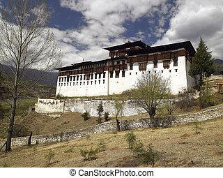 Paro Dzong - Kingdom of Bhutan - Paro Dzong Monastery near...