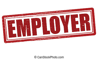 Employer - Stamp with word employer inside, vector...