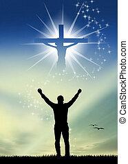 prayer to Jesus - illustration of prayer to Jesus