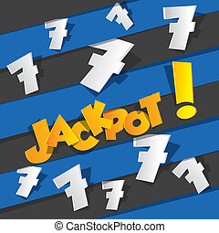 Bingo, Jackpot symbol - Creative Abstract Bingo, Jackpot...