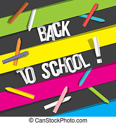 Back To School - Creative Back To School Background vector...