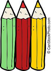 cartoon coloring pencils