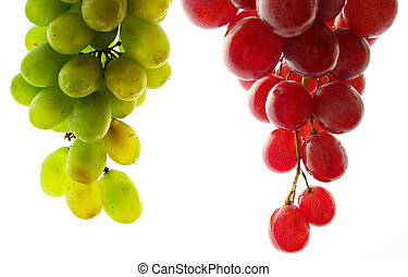 A bunch of grapes - A bunch of red grapes with white...