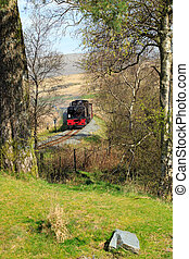 Old Steam Train - steam train travelling through the...