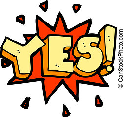 cartoon yes symbol