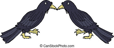cartoon crows
