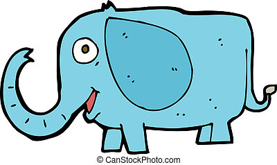 cartoon baby elephant