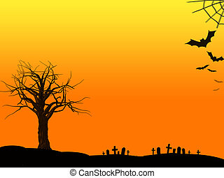 Dead Tree Halloween Background - Halloween background with...